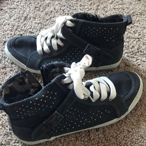 Shoes - UNR8ED Black Stoked Buckle Sneakers